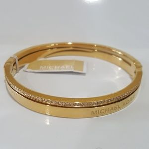 Michael Kors Gold Split Pavè Bangle Bracelet